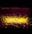 black background with golden sparkles vector image vector image
