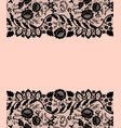 black lace borders vector image vector image