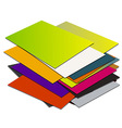 Business card pile template1 vector image vector image