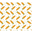 Carrot seamless pattern endless background vector image