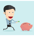 cartoon and money in flat design vector image vector image