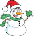 Cartoon Santa Snowman vector image