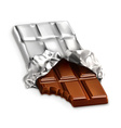chocolate bar a tasty piece chocolate i vector image vector image