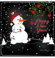 Christmas chalkboard decoration with snowman vector image vector image