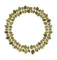 circular frame of green leaves with ramifications vector image vector image
