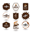 Coffe label vector image vector image