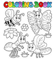coloring book cute bugs 2 vector image