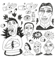 crazy people - doodles set vector image vector image
