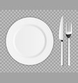 creative top view cutlery set vector image vector image