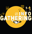 creative word concept gathering info and people vector image vector image