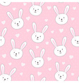 Cute seamless pattern with rabbit in childish styl vector image vector image