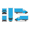 delivery van - layout for presentation vector image vector image