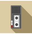 Dictaphone icon flat style vector image vector image