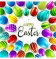 easter background with realistic painted eggs vector image vector image