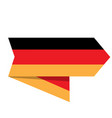 flag of germany on a label vector image vector image