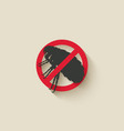 flea warning sign vector image vector image