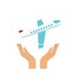 flight insurance vector image
