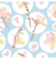 floral pattern with circle and lily vector image