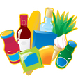 Foods and drinks vector image vector image
