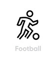 football soccer sport icons vector image