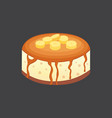 fruit dessert banana pie icon in cartoon vector image vector image