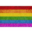 Gay pride mosaic flag vector image