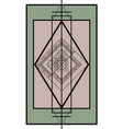 geometric spring tracery in asian style vector image vector image