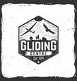 gliding club retro badge vector image vector image