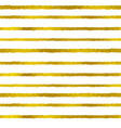 golden striped seamless pattern vector image vector image