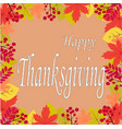 hand drawn happy thanksgiving typography vector image