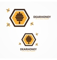 honey and bee logo vector image vector image