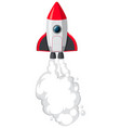 isolated space rocket cartoon vector image