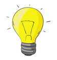 light bulb cartoon colored doodle vector image