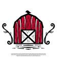 logo a vintage farm barn vector image vector image