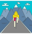 modern cyclist on road vector image vector image