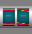 modern flyer template design vector image vector image