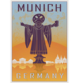 Munich vintage poster vector image vector image
