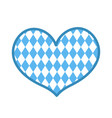 oktoberfest in the heart shape icon is a flat vector image vector image