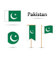pakistan flags vector image