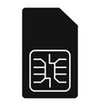 phone sim card icon simple style vector image