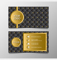 premium luxury and elegant gold black name card vector image