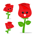 Rose Cartoon 001 vector image vector image