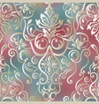 seamless damask pattern fabric swatch vector image vector image