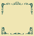 secession frame vector image