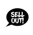 sell out stamp on white vector image vector image