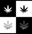 Set medical marijuana or cannabis leaf icon