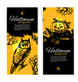 Set of Halloween banners Hand drawn vector image vector image