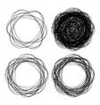 Set of hand drawn line emblem scribble circles vector image vector image