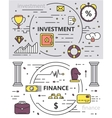 set thin line design investment vector image
