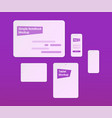simple mockups notebook tablet phone vector image vector image
